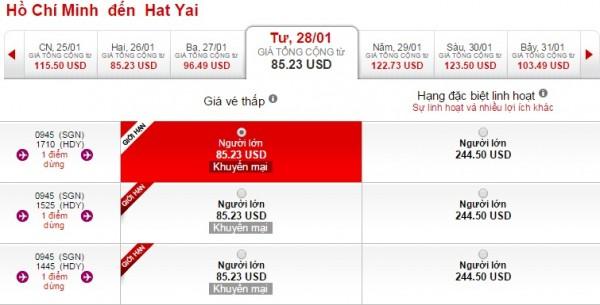 Mua vé máy bay đi Hat Yai giá rẻ ở đâu?