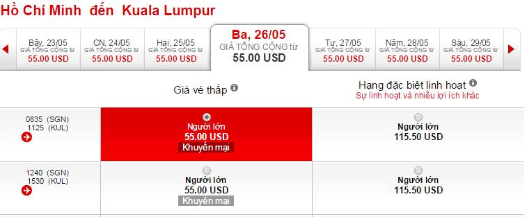 HCM-Kuala Air