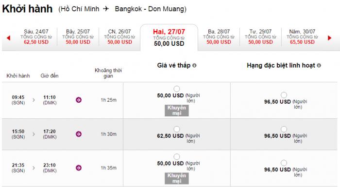 HCM-Bangkok rẻ