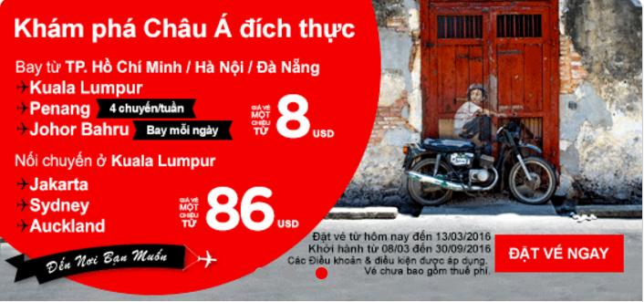 Khám phá châu Á đích thực với Air Asia chỉ từ 8 USD