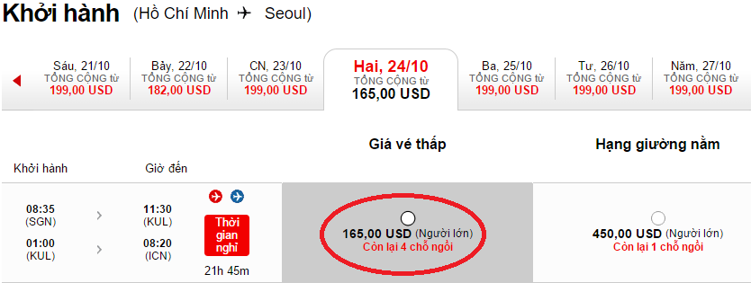 HCM-Seoul t10 air asia