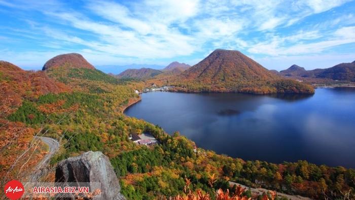 Hồ Haruna mùa thu