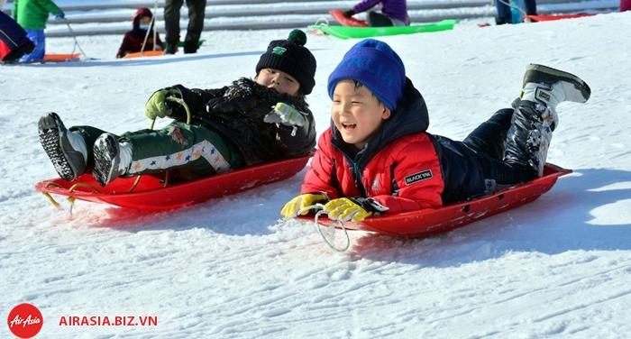 Trượt tuyết ngoài trời Hàn Quốc