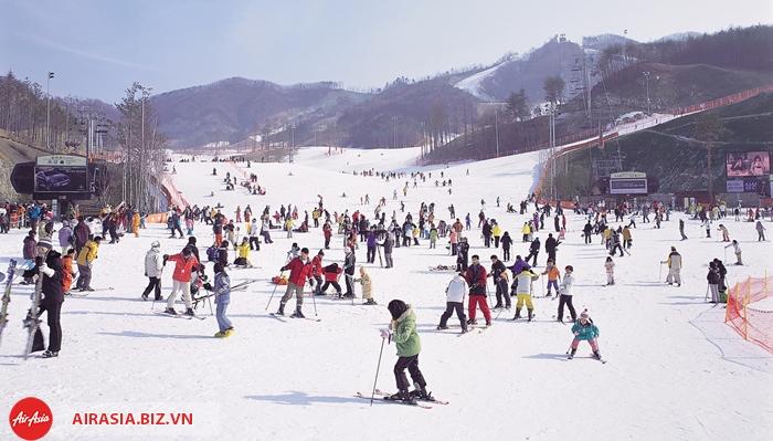 Trượt tuyết mùa đông ở Hàn Quốc