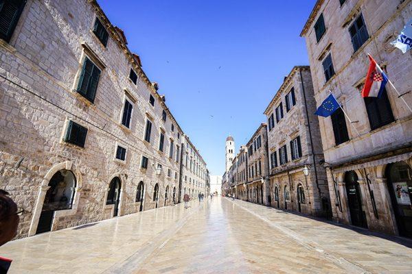 Stradun ở Croatia